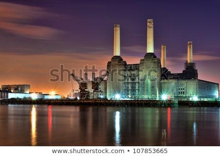 Elektromos erőmű London Anglia víz épület építkezés Stock fotó © dutourdumonde