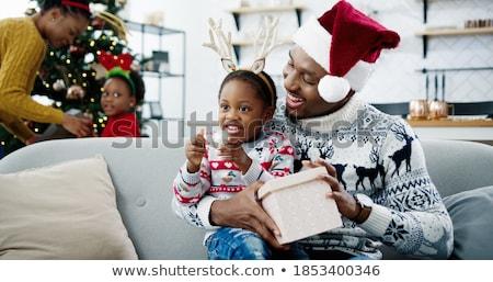 женщину Рождества дух знак Hat белый Сток-фото © photography33