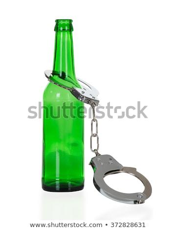 üveg bilincs alkoholizmus ittas vezetés fehér biztonság Stock fotó © Grazvydas