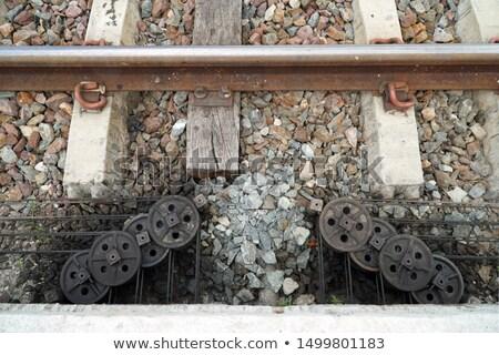 Manual mudar velho estação de trem vertical tráfego Foto stock © ABBPhoto