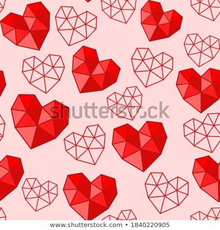 Rubies and paper red heart Stock photo © wavebreak_media