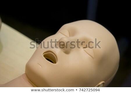 etalagepop · hoofdhuid · gedekt · plastic · kaal · hoofd - stockfoto © elenarts
