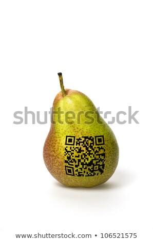 pear with qr code Stock photo © Zerbor