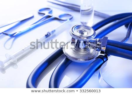 medizinischen · Test · Rohre · Impfstoff · Spritze · Blut - stock foto © lunamarina