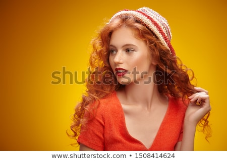 Positive Emotions. Portrait of Laughing Teen Girl over Sunny Blue Sky. Jubilance Stock photo © gromovataya