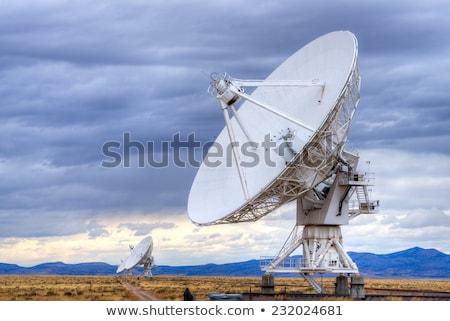 Satélite pratos paisagem muitos assinar rádio Foto stock © ivonnewierink