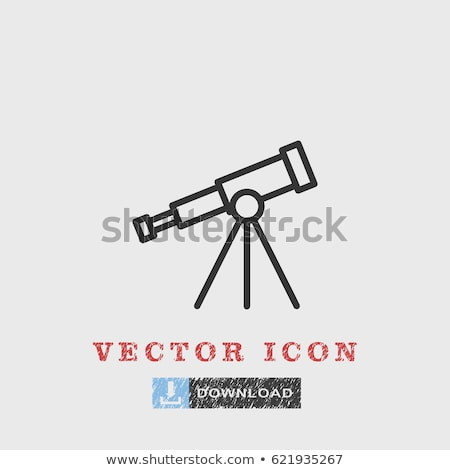 Icona telescopio star Foto d'archivio © zzve