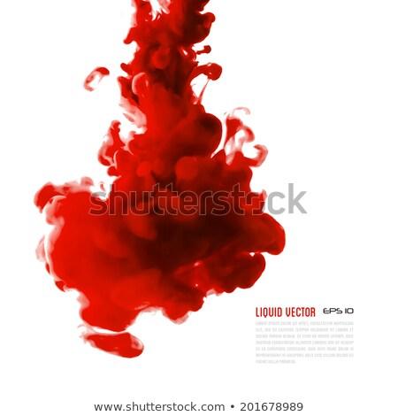 Foto stock: Vermelho · nosso · água · isolado · branco