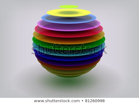 Abstract digital art multi colored glass balls Stock photo © vavlt