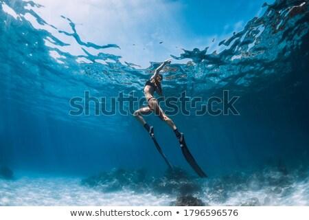 Woman Freediver Stock photo © papa1266