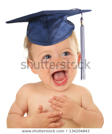 baby head with graduation mortar stock photo © adrian_n