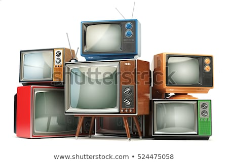 Stacked retro televisions stock photo © charcoal