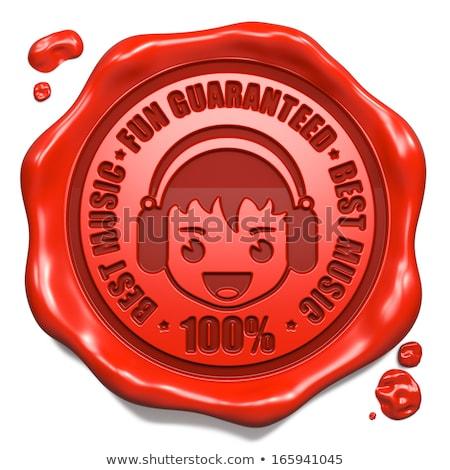 fun guaranteed   stamp on red wax seal stock photo © tashatuvango