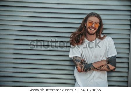 knap · vent · zonnebril · zomer · glimlachend - stockfoto © feedough