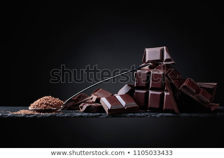 chocolates on black Stock photo © clearviewstock