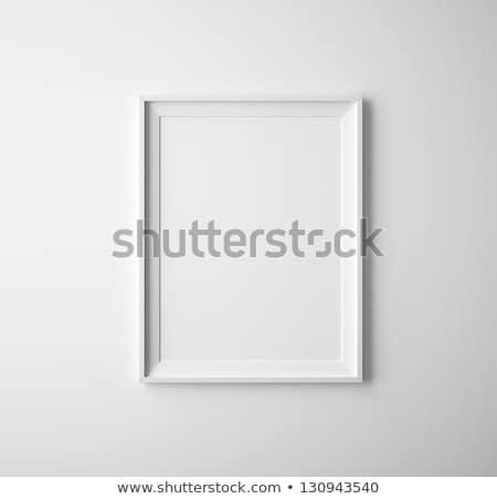 Keret fehér fal üzlet iroda papír Stock fotó © oly5
