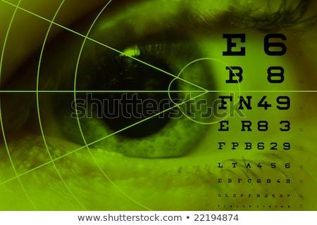 teszt · szemek · patológia · szemorvos · szem · tanulás - stock fotó © alexonline