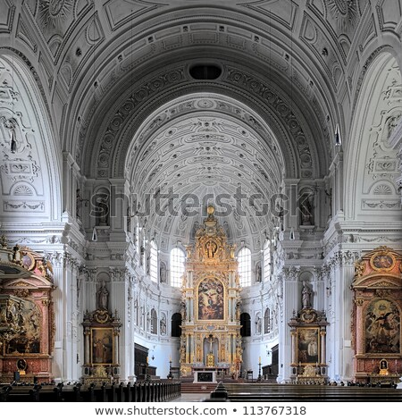 Kilise Münih kule sanat gece Stok fotoğraf © faabi