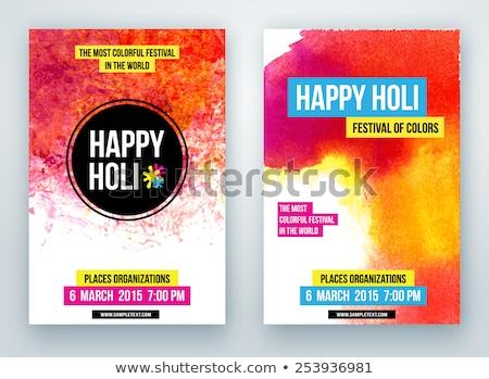 kaart · mooie · heldere · kleurrijk · verbieden · festival - stockfoto © bharat
