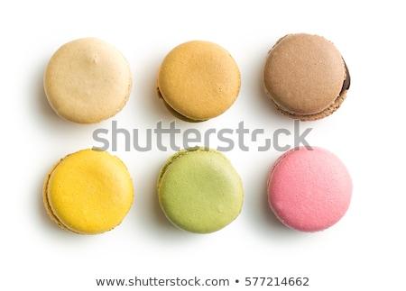 французский macarons белый торт оранжевый Сток-фото © g215