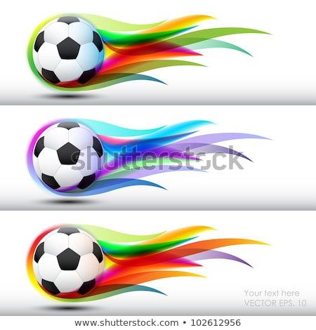 Soccer ball in the color of flame and smoke Stock photo © cherezoff