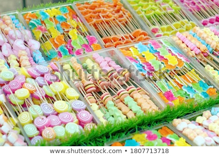 Colorful sweet candies at street market Stock photo © stevanovicigor