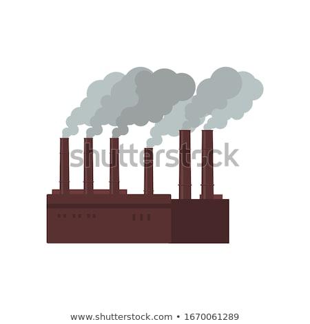Сток-фото: завода · дымоход · дым · Blue · Sky · небе · технологий