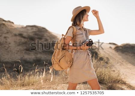 Safari девушки иллюстрация семьи пейзаж путешествия Сток-фото © adrenalina