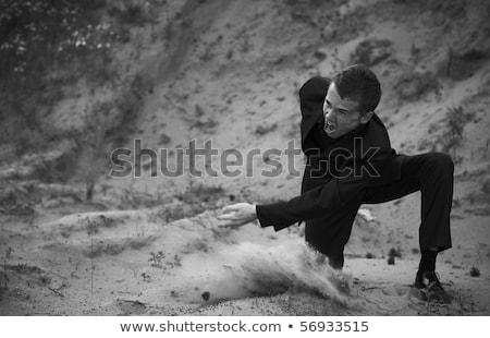 man in a suit on casting Stock photo © feelphotoart