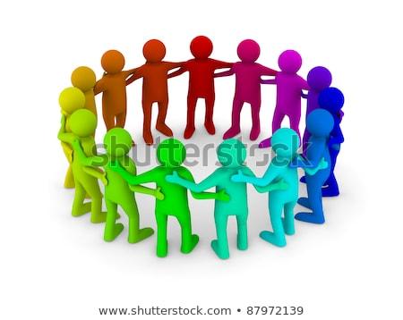 3d · ember · aktatáska · irányítás · csapat · 3d · emberek · férfi - stock fotó © iserg