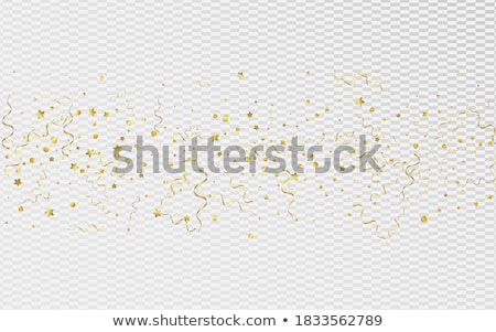 golden stars with white ribbons, in red Stock photo © marinini