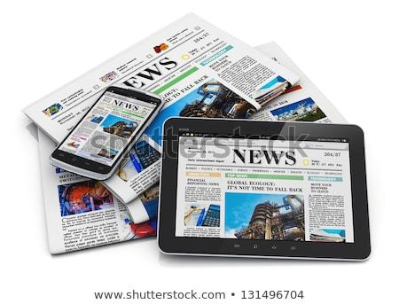 Journal titre internet ordinateurs ordinateur nouvelles Photo stock © Zerbor