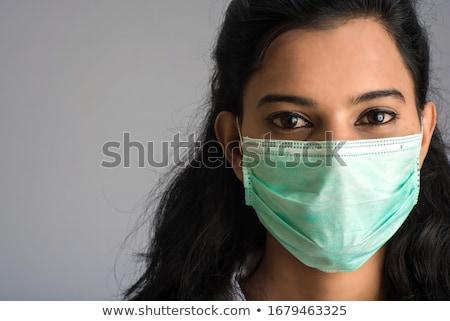 Indian visage de femme masque belle femme Photo stock © ziprashantzi