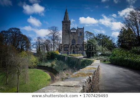 Opactwo Szkocji kwiat kościoła architektury religii Zdjęcia stock © photopb