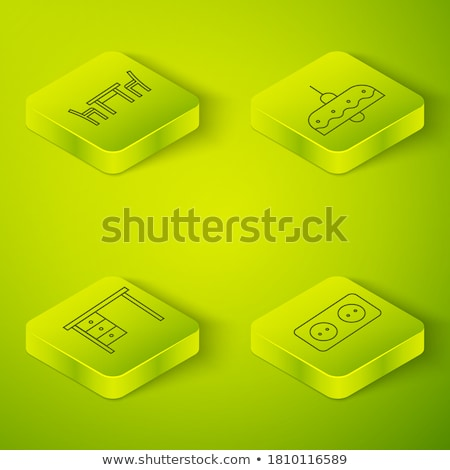 office work square vector green icon design set stock photo © rizwanali3d