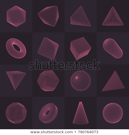 3d wireframe render object  Stock photo © shawlinmohd