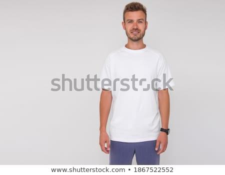 стоять прямой выразительный профиль молодые брюнетка Сток-фото © lithian