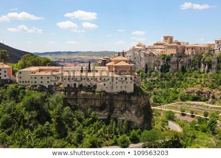 Overview Of Cuenca In Castilla La Mancha Spain Zdjęcia stock © jorisvo
