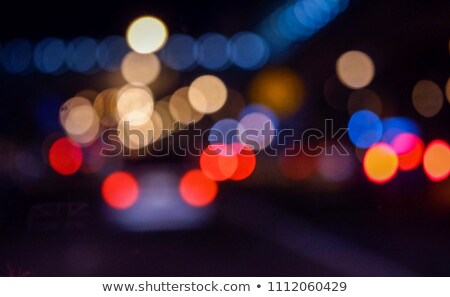 Traffic headlights and city light bokeh Stock photo © stevanovicigor