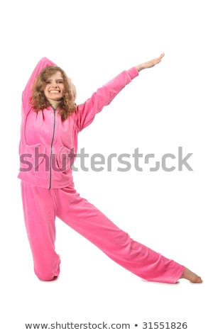 Girl in pink clothes represents  letter k Stock photo © Paha_L