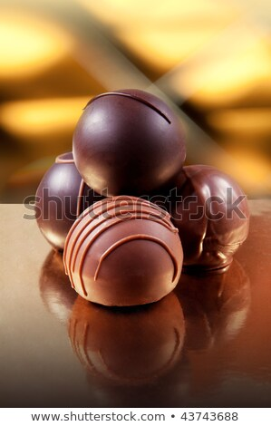 Stock photo: Close up of chocolate truffle