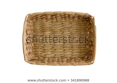 Plain simple wicker tray Stock photo © ozgur