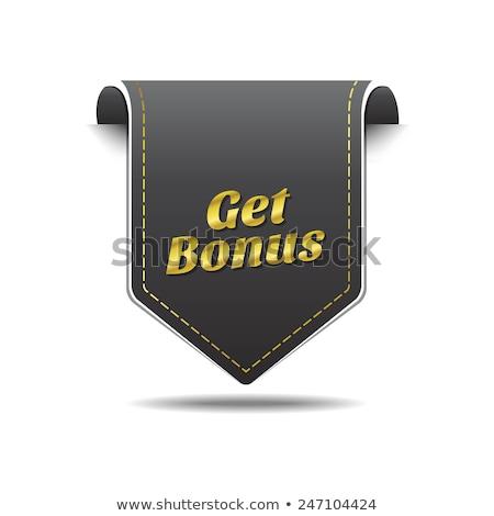 Get Bonus golden Vector Icon Design Stock photo © rizwanali3d