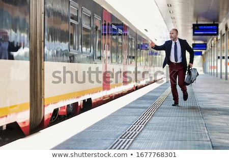 businessman run with lean Stock photo © Istanbul2009