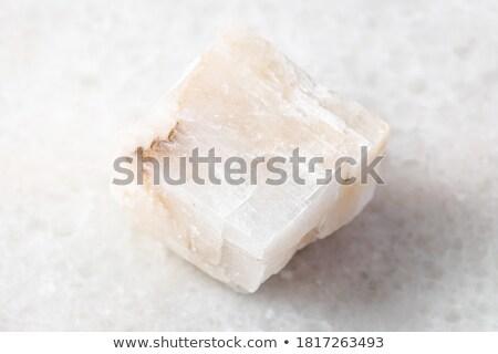 белый Кальцит минеральный изолированный природы кристалл Сток-фото © jonnysek