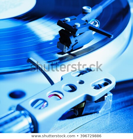 Gramofon retro hatás közelkép tű játékos Stock fotó © kjpargeter