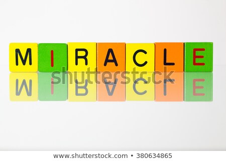 Miracle - an inscription from children's  blocks Stock photo © CaptureLight