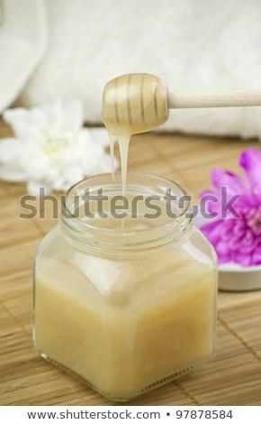кокосового · ваниль · ванны · полотенце · соль · Spa - Сток-фото © joannawnuk