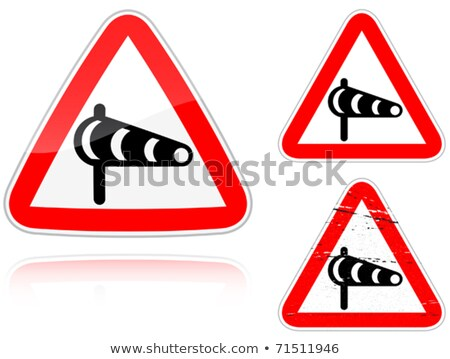 Set of variants a Sidewind - road sign Stock photo © boroda