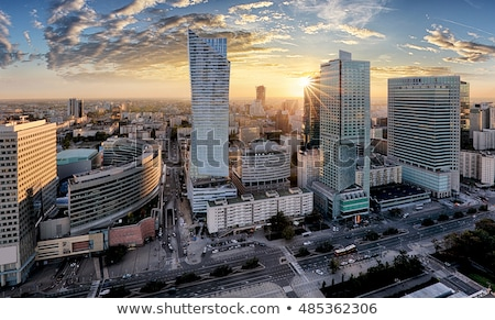 Modern skyscrapers in Warsaw downtown Stock photo © filipw